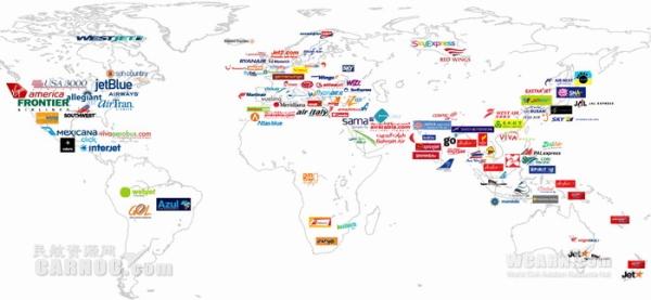数据:全球三大低成本航空公司竞争力分析