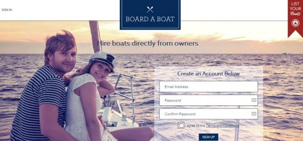 Board A Boat:海外易到用船,船只租赁服务