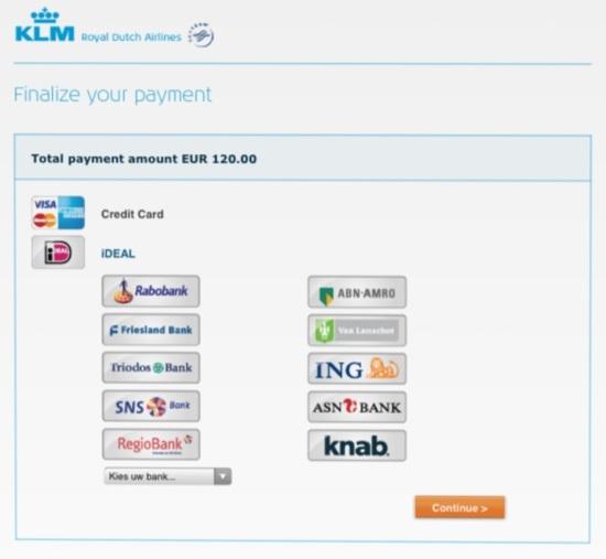 荷兰航空:推出社交媒体订票支付系列服务