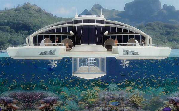 马尔代夫:漂浮式奢华酒店 应对海平面上升