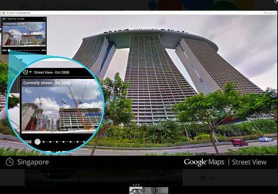 谷歌街景:新功能可穿越时空 看过去风景