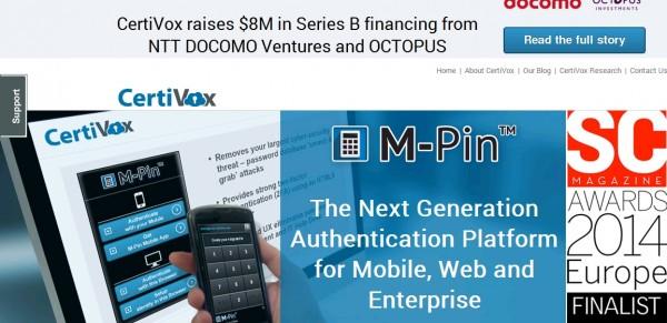 CertiVox:在线安全服务 获800万美元B轮融资