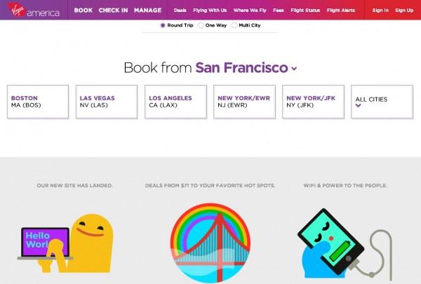 维珍美国:新启简洁网站、创新口袋版登机牌