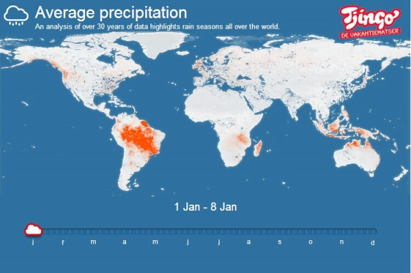 Tjingo: 利用雨型分析的可视化旅行计划工具
