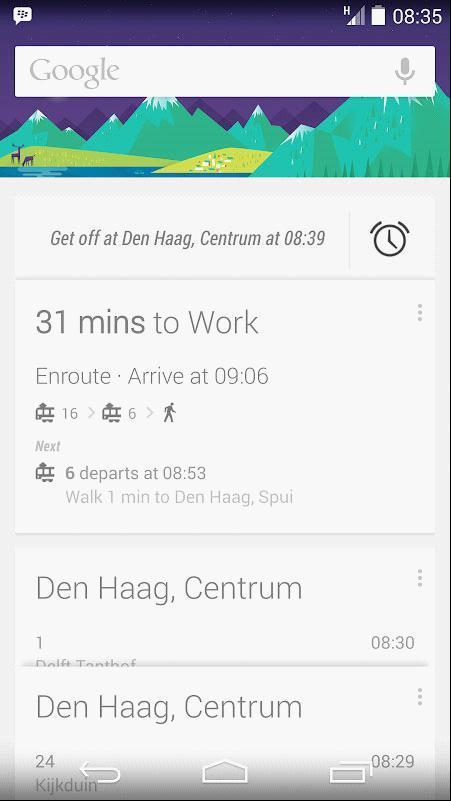 Google Now:站点报警功能提醒你别坐过站