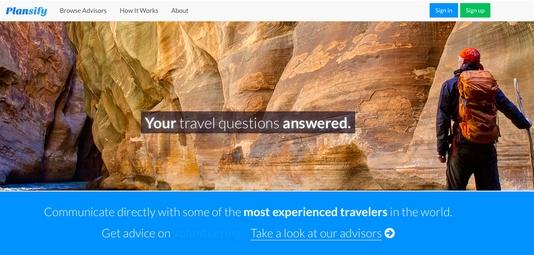 Plansify:向旅行规划者按需提供咨询服务