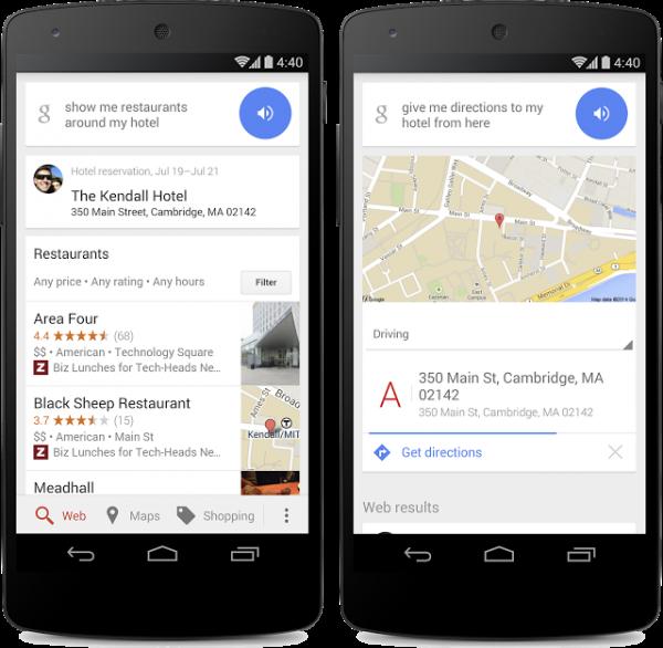 Google Now:开放酒店附近的POI搜索功能
