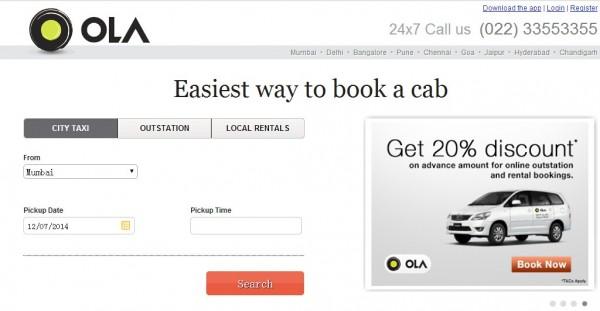 Olacabs:印度租车平台获得C轮4200万融资