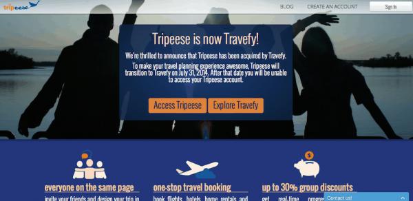 Travefy:收购另一家旅行计划网站Tripeese