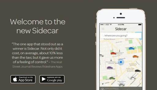 Sidecar:搭车网站新获1500万美元支持扩张