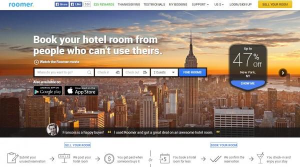 Roomer:酒店预定转让平台 获500万美金A轮