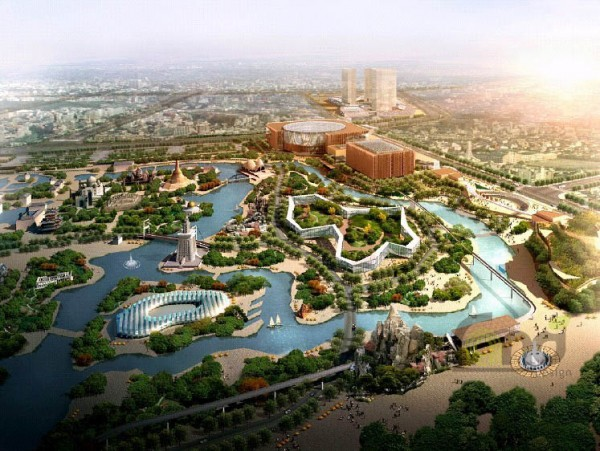 北京環球主題公園:正在安裝游樂設施