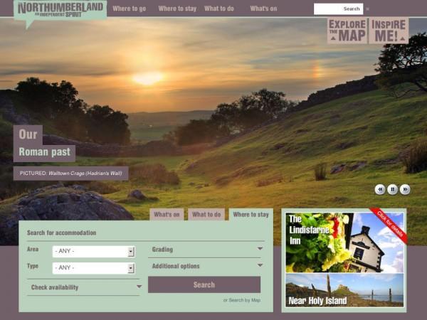 英格兰:诺森伯兰郡旅游业 官网营销作用大