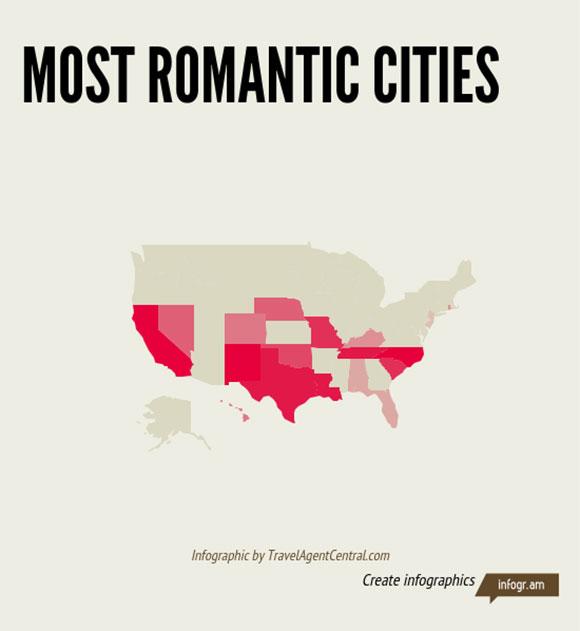 OpenTable:情人节 全美最浪漫的25个城市