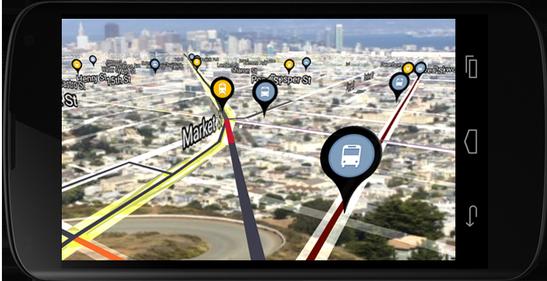 Urban Engines:手机版的增强现实功能导航