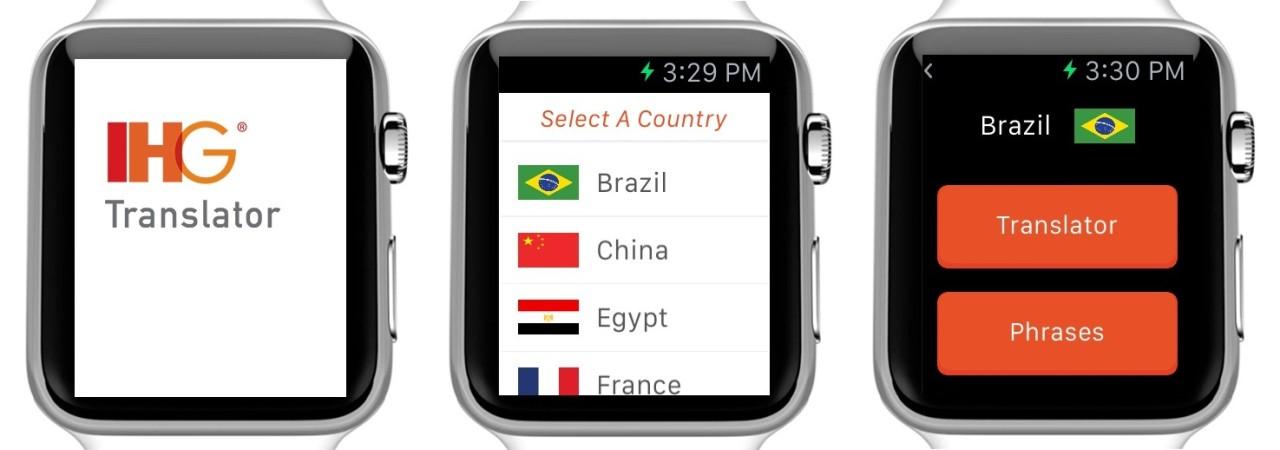 洲际酒店:推苹果手表App 可翻译13种语言