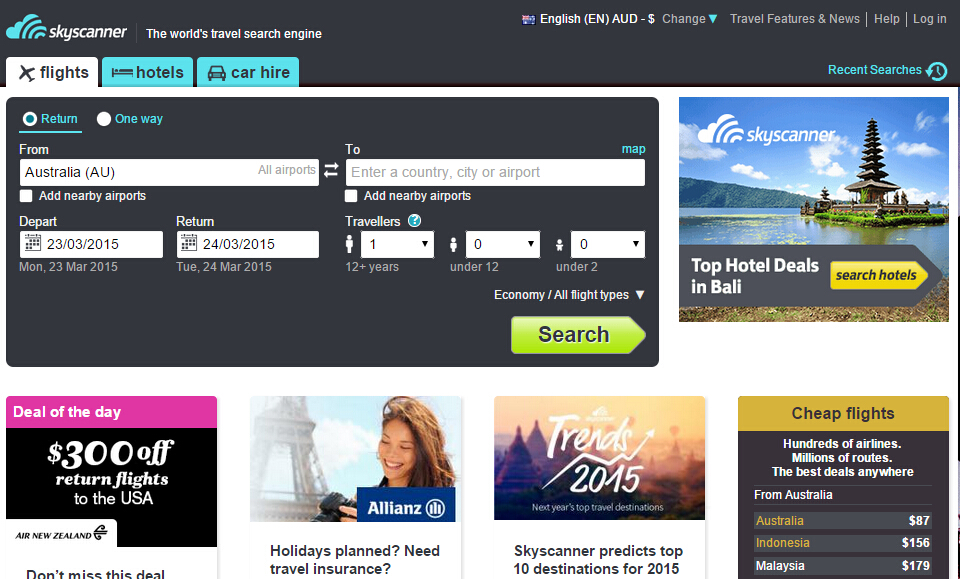 Skyscanner:流量增加 挑战Webjet核心业务