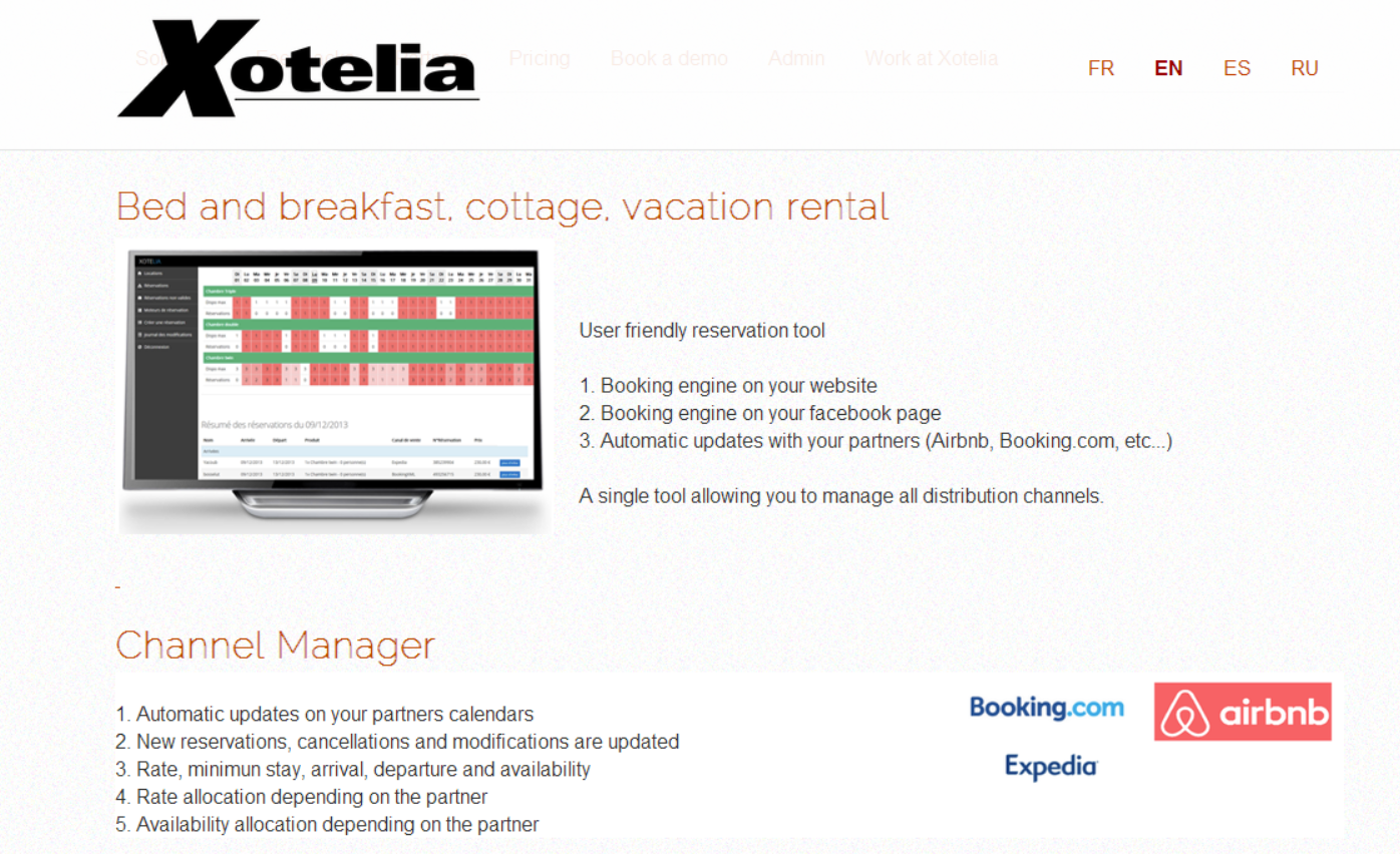 Xotelia:住宿短租科技供应商筹140万美元