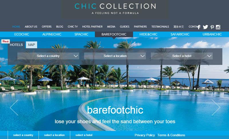 CHIC COLLECTION:24小时网上酒店预订平台