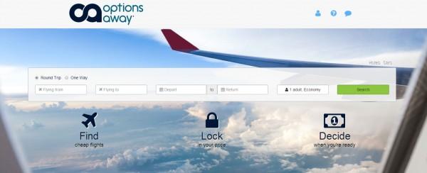 Options Away:机票锁定初创融资350万美元