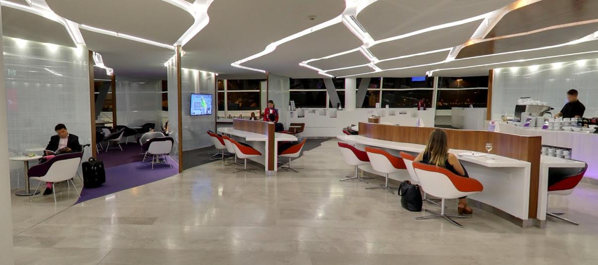 维珍澳大利亚:谷歌街景展示悉尼机场休息室