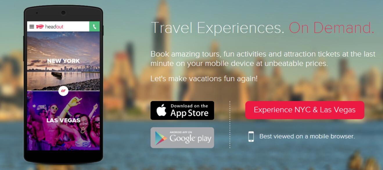 Headout:旅游活动移动应用种子轮融资180万