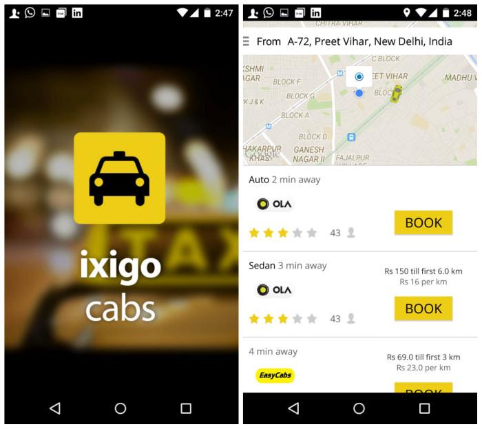 印度ixigo:推出租车元搜索App 签分销协议