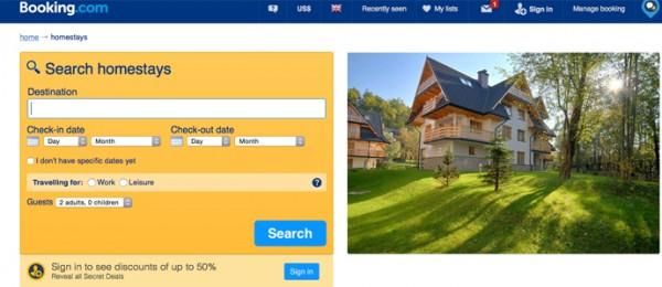 Booking.com:向Airbnb学习,布局家屋租赁