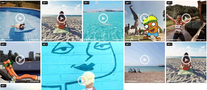 Booking.com:度假图片转为GIF 营销更聪明
