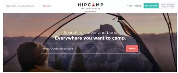 Hipcamp:露营地的Airbnb 分享推动持续发展