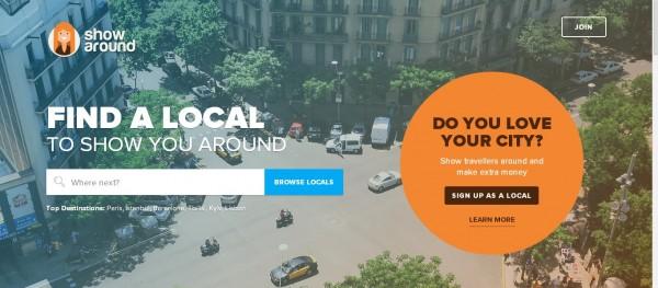 Showaround:旅游者选择当地私人导游的平台