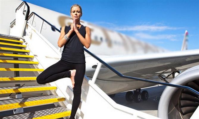 天合联盟:推航空旅行的热门新宠 机上瑜伽