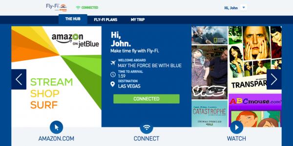 捷蓝航空:用Fly-Fi推机上亚马逊在线视频