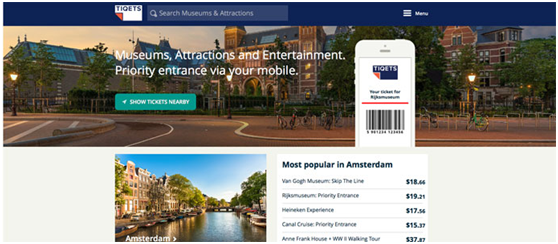 Tiqets:旅游景点平台获得400万美元A轮融资