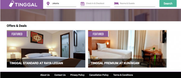 Tinggal:酒店在线预定平台获100万美金融资