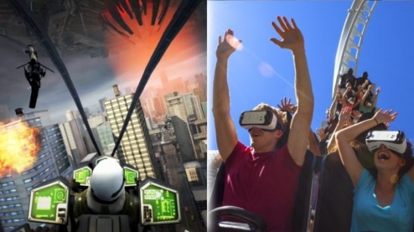 三星:联手主题公园Six Flags 推9台VR过山车