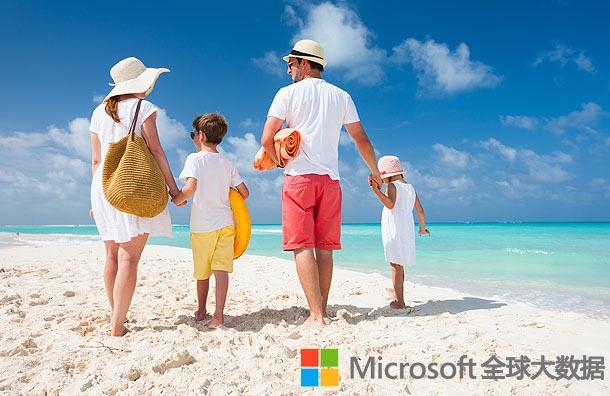 微软大数据:欧美家庭十大海外亲子游胜地