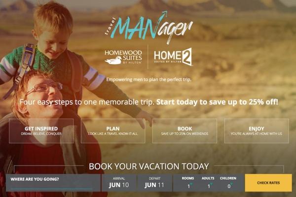 希尔顿:帮助男性客户成为更好的旅游规划者