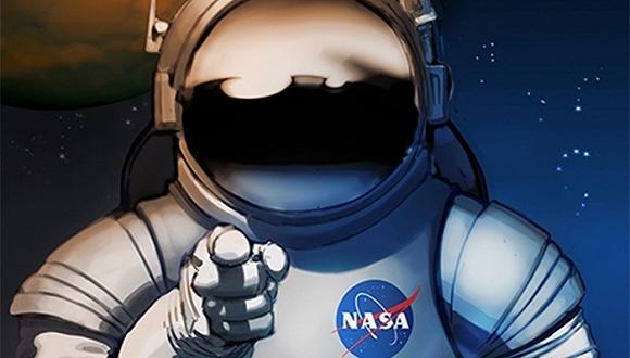 NASA:炫酷海报 为火星探险之旅招募人才