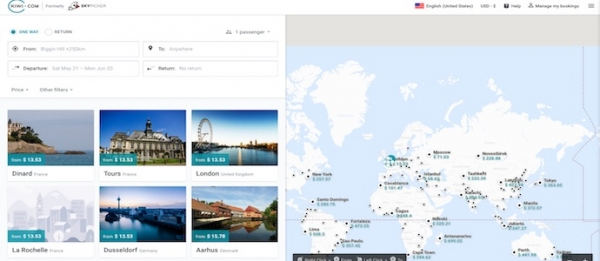 Skypicker:更名Kiwi.com 重塑品牌欲多面发展