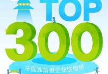 艾瑞咨询:2016年独角兽企业估值榜TOP300