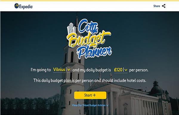 Expedia:推新营销软件,助力城市一日游预算