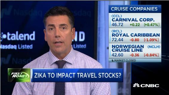 美国:寨卡恐慌 加剧部分邮轮和航司股票跌幅
