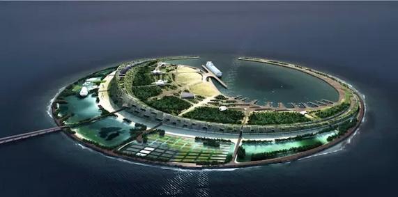海航:要在海口湾建人工旅游岛 设计方案出炉