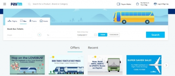 Paytm:发展势猛 成印度领先B2C火车票销售商