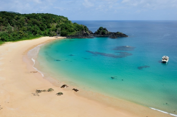 Baia do Sancho is most beautiful beach in Brazil.