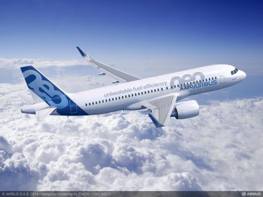 阿拉伯航空:订购120架空客A320neo系列飞机