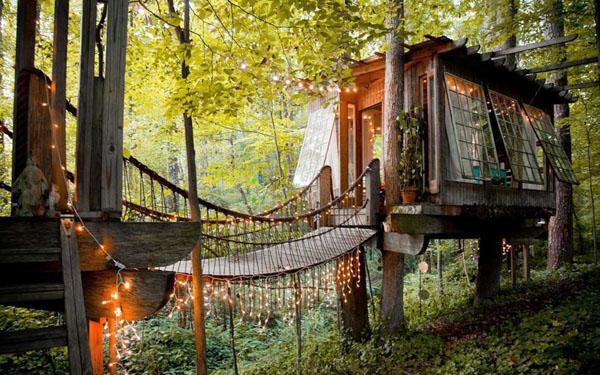 疯狂的华丽树屋:Airbnb上最受欢迎的房屋之一