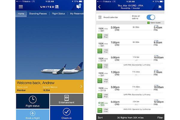 美联航:App允许乘客获取其合作航空的登机牌