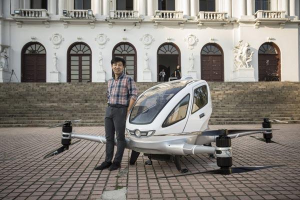 中国无人飞行出租车:2018年或在迪拜试运营